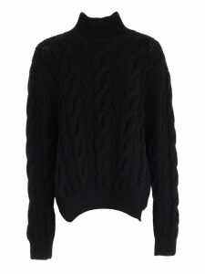 Simone Rocha Sweater W/side Slits Turtle Neck