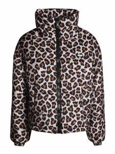 MSGM Leopard Print Down Jacket