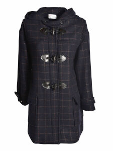 RED Valentino Checked Duffle Coat