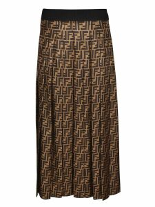 Fendi Ff Twill Skirt