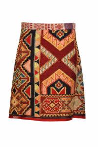 Etro flared jacquard miniskirt