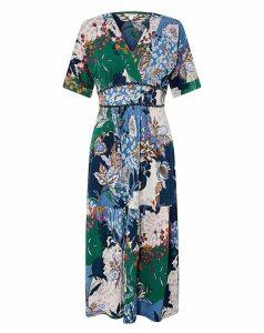 Monsoon Frida Jersey Print Midi Dress