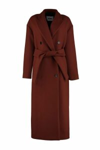 MSGM Virgin Wool Long Coat