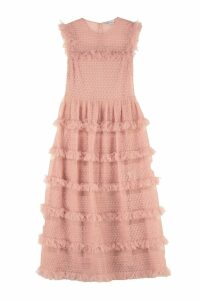 RED Valentino Ruffled Crêpe Dress