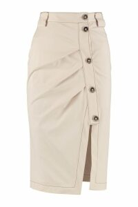 Pinko Rachele Asymmetric Pencil Skirt