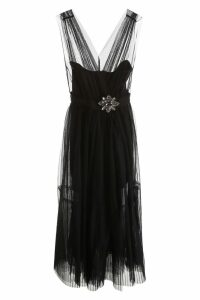 Pinko Tulle And Faux Leather Dress