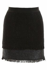 Pinko Lurex Tweed Mini Skirt