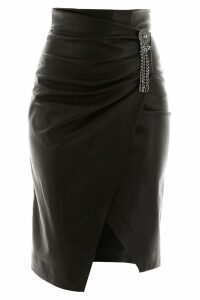Pinko Faux Leather Skirt