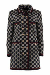 Gucci Gg Motif Tweed Coat