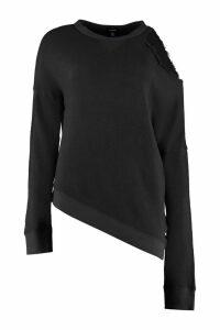 R13 Distressed Cotton Sweatshirt