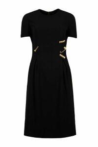 Versace Decorative Safety Pins Sheath Dress
