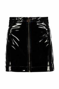 Chiara Ferragni Vinyl Miniskirt