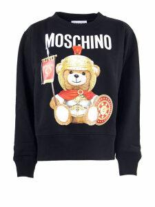 Moschino Black Cotton Sweatshirt