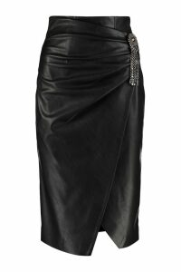 Pinko Cagliare Faux Leather Skirt