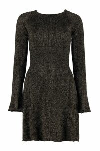 Pinko Tentoni Ribbed Lurex Knit Dress