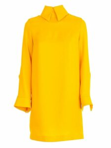 SEMICOUTURE Dress L/s Over Shirt Collar