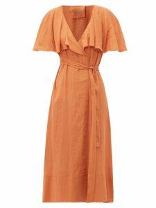 Loup Charmant - Zelda Cotton Wrap Dress - Womens - Brown