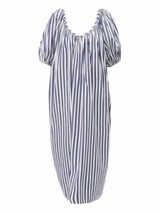 Mara Hoffman - Romina Striped Puff Sleeve Cotton Dress - Womens - Blue Stripe