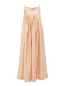 Loup Charmant - Salinas Pleated Silk Dress - Womens - Beige