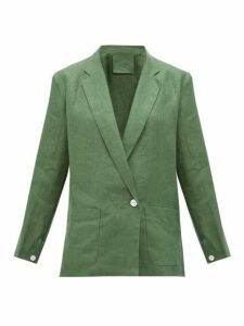 Loup Charmant - Saint Denis Single Breasted Linen Blazer - Womens - Green