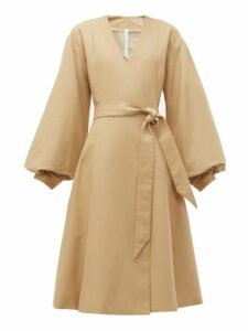 Merlette - Sian Tie Waist Cotton Coat - Womens - Brown