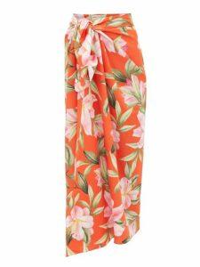 Mara Hoffman - Izzi Lily Print Midi Skirt - Womens - Red Multi