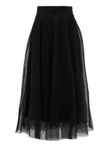 Zimmermann - Espionage Fil Coupé Tulle Ballet Skirt - Womens - Black
