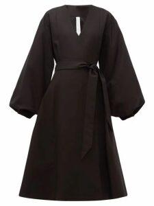 Merlette - Sian Cotton Wrap Coat - Womens - Black