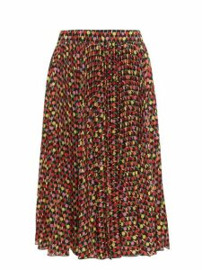 La Doublej - Soleil Pleated Georgette Midi Skirt - Womens - Multi