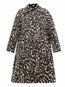 La Doublej - Single Breasted Leopard Jacquard Coat - Womens - Leopard