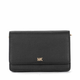 Michael Kors Mercer Black Leather Pochette With Shoulder Strap.