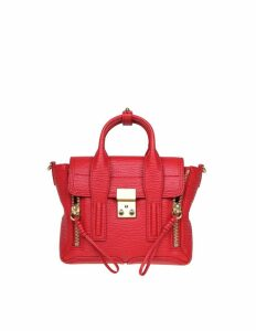 Phillip Lim Mini Pashli Leather Bag In Red Leather