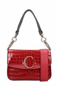Chloé Chloe C Media Shoulder Bag In Red Leather