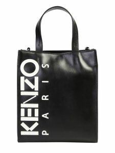 Kenzo Logo Patch Tote Leather Bag