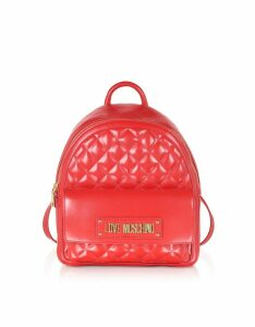 Love Moschino Quilted Eco-leather Backpack