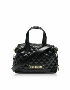 Love Moschino Black Quilted Satchel Bag