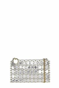 RED Valentino Clutch In Silver Leather