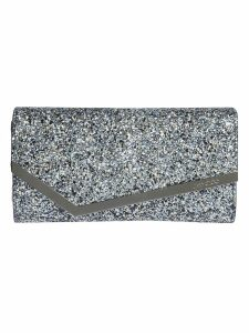 Jimmy Choo Emmie Party Coarse Glitter Clutch