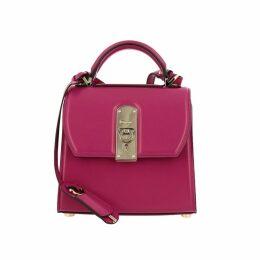Salvatore Ferragamo Handbag Boxyz Salvatore Ferragamo Small Bag In Smooth Leather With Metal Padlock