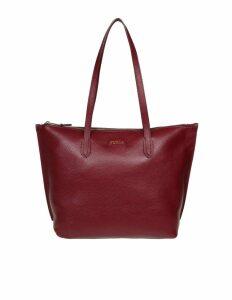 Furla Luce Shopping M Leather Bordeaux Color