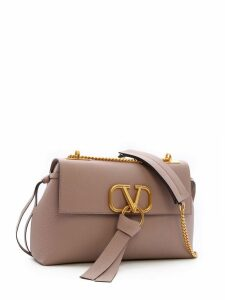 Valentino Garavani Leather Small Vring Shoulder Bag