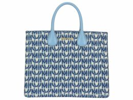 Miu Miu Miu Logo Motif Shopping Bag