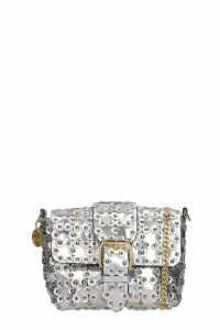 RED Valentino Shoulder Bag In Silver Leather