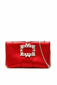Roger Vivier Rv Broche Satin Clutch