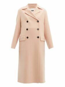 Jil Sander - Double Breasted Cashmere Coat - Womens - Light Pink