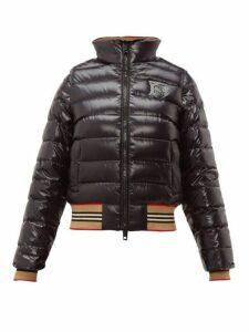 Burberry - Icon Stripe Detachable Sleeve Down Jacket - Womens - Black Multi