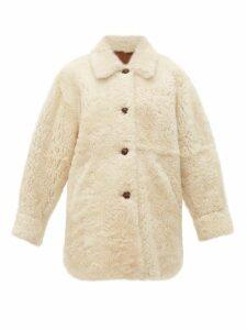 Isabel Marant - Sarvey Shearling Jacket - Womens - Ivory