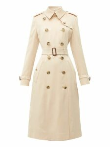 Burberry - Bostcastle Double Breasted Silk Trench Coat - Womens - Light Pink