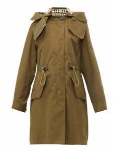 Burberry - Polzeath Hooded Cotton Parka - Womens - Dark Khaki