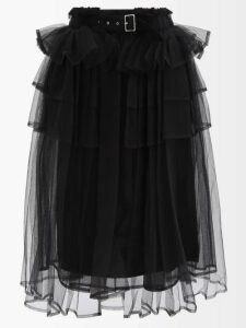 Alexandre Vauthier - Plunge Neck Slit Front Dress - Womens - Black